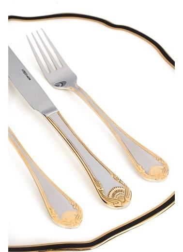 Mikasa Moor Bianca gold - mirror 90 Parça Çatal Kaşık Bıçak Seti Altın